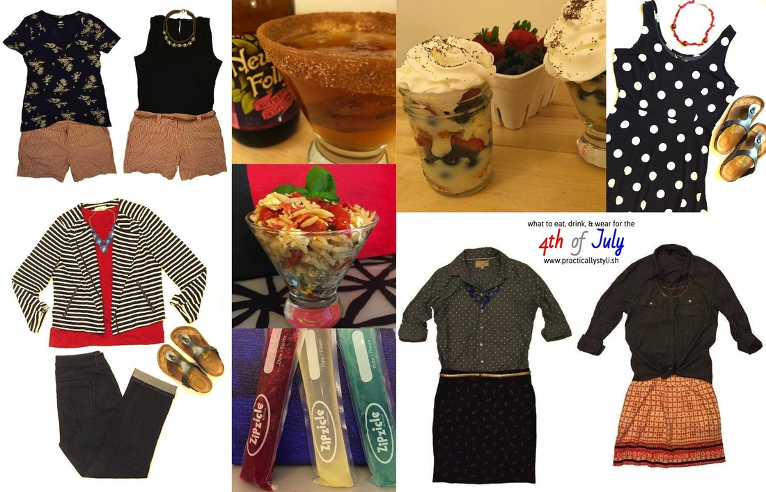 what to eat, drink, and wear for the 4th of July via practicallystyli.sh